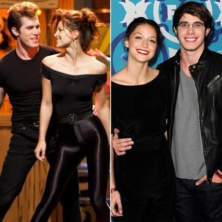 """Dù trong """"Glee"""", Melissa Benoist không lựa chọn tình yêu của Blake Jenner nhưng ở ngoài đời, cặp sao lại bí mật đính hôn và làm đám cưới với nhau hồi năm 2015."""