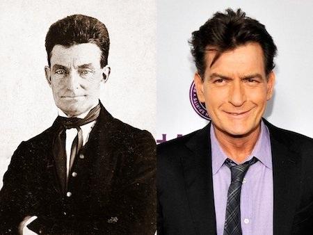 Charlie Sheen thì lại trông khá giống với nhà tư tưởng John Brown của thời kỳ Nội chiến Hoa Kỳ.