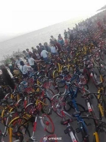 Vạn xe đạp chen nhau không lối thoát ở Trung Quốc - 4