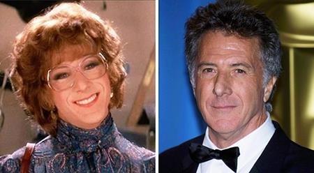 """Màn giả gái của Dustin Hoffman trong """"Tootsie"""" (1982) xuất sắc tới mức không chỉ giúp cho nam tài tử nhận được một đề cử Oscar mà còn giúp tác phẩm này trở thành niềm cảm hứng của rất nhiều thế hệ yêu điện ảnh"""