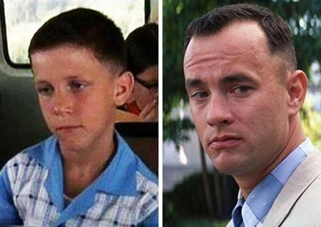 Vai diễn nổi tiếng Forrest Gump trong bộ phim cùng tên ngày bé do Michael Conner Humphreys thể hiện còn sau này là Tom Hanks