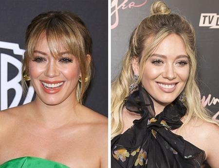Cựu công chúa nhà Disney Hilary Duff trông khá hợp với một chút tóc mái trên trán