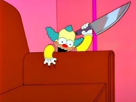 """Dù là phim hoạt hình nhưng """"The Simpsons"""" vẫn hù dọa khán giả với con búp bê Krusty vô cùng đáng sợ."""
