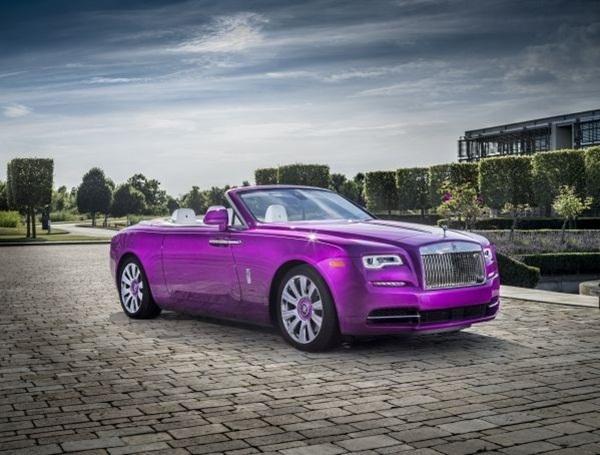 Một sản phẩm hợp tác đáng chú ý nữa của Michael Fux và Rolls – Royce là chiếc Rolls – Royce Dawn siêu sang màu tím thu hút mọi ánh nhìn. Ý tưởng thiết kế và màu sắc được chính ngài tỷ phú đề xuất, bởi ông đặc biệt yêu thích sắc tím của những cánh hoa vân anh và muốn có một chiếc xe mang tông màu dịu ngọt này.