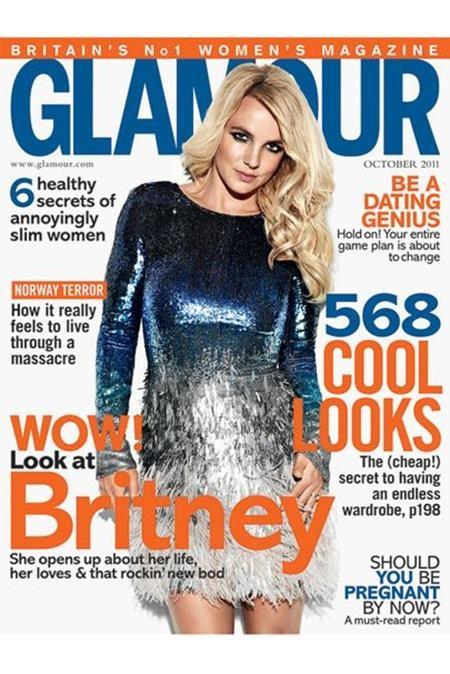 Xuất hiện trên trang bìa tạp chí GLAMOUR, Britney Spears nhanh chóng trở thành một trong những gương mặt trang bìa thu hút nhất trong lịch sử xuất bản của tờ tạp chí