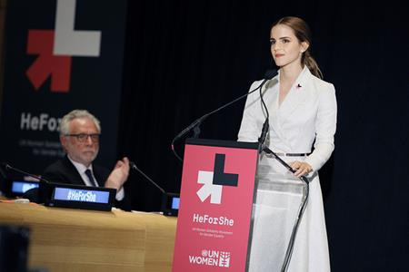 Ngoài các hoạt động nghệ thuật, Emma Watson còn gây được tiếng vang lớn khi tham gia chiến dịch HeForShe về quyền bình đẳng giới của Liên Hiệp Quốc