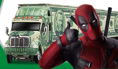 """""""Deadpool"""" đã mang về cho hãng 20th Century Fox hơn 780 triệu đô la Mỹ"""