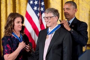 Bill Gates và Cựu Tổng thống Mỹ, Barack Obama (Nguồn: PA)