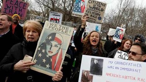Biểu tình chống sắc lệnh về nhập cư của Donald Trump, ngày 29-1-2017 tại Washington DC.