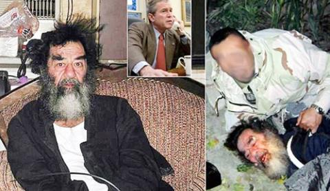 Cựu Tổng thống Saddam Hussein bị kết án tử hình vì tội ác chống lại loài người.