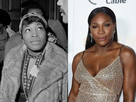"""""""Nữ hoàng quần vợt"""" Serena Williams dường như đã tìm thấy tiền thân của mình là nhà giáo dục nổi tiếng Betty Shabazz."""