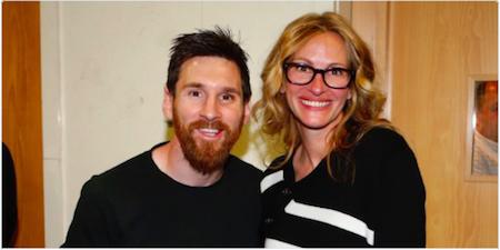 """""""Người đàn bà đẹp"""" cũng phải thổn thức vì Messi"""