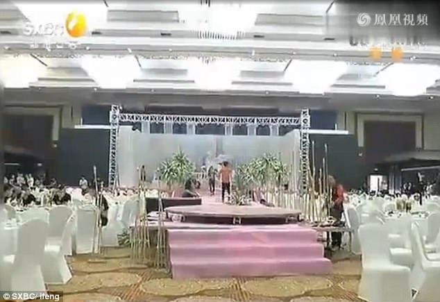 Đám cưới diễn ra tại một khách sạn 3 sao ở thành phố Tây An, tỉnh Thiểm Tây, Trung Quốc.