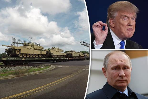 Xe tăng Mỹ dồn dập tới châu Âu để đối phó Nga? - 1