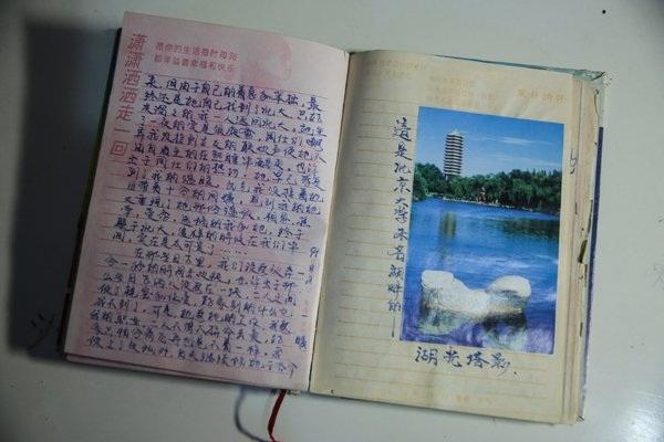 Zhang vẫn duy trì thói quen viết nhật ký mỗi ngày