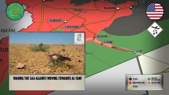 Truyền đơn của Mỹ cảnh báo quân Assad không được đến gần Al-Tanf trong khoảng cách 55 km và rút khỏi Zaza.