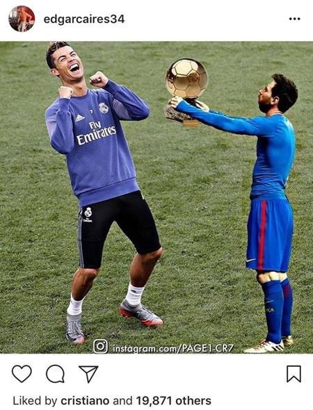 """Bức ảnh """"chế"""" về Messi và C.Ronaldo đang tạo """"bão"""" trên mạng xã hội"""