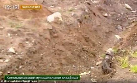 Nơi Salaev bị chủ nợ chôn sống. Ảnh: Moscow24