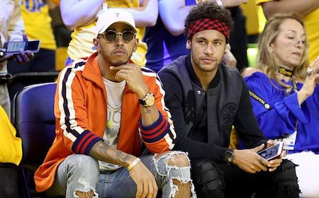 "Neymar từng ""hẹn hò"" Lewis Hamilton đi xem bóng rổ"