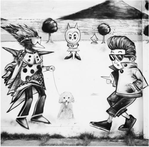 Một tác phẩm graffiti của Đan Nguyễn.