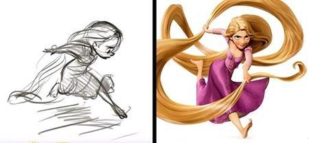 """Công chúa tóc mây Rapunzel trong """"Tangled"""" vẫn nghịch ngợm như ý tưởng ban đầu nhưng mức độ xinh đẹp thì được gia tăng đáng kể"""