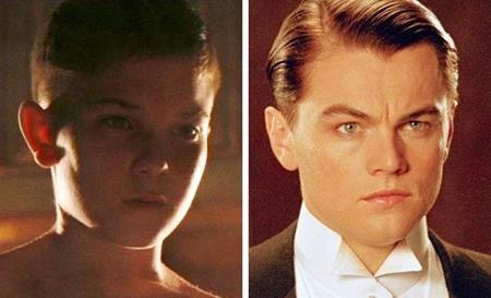 """Chàng tỉ phú phi công Howard Hughes trong """"The Aviator"""" hồi nhỏ do ngôi sao 9x Jacob Davich thể hiện còn sau này là nam tài tử Leonardo DiCaprio"""