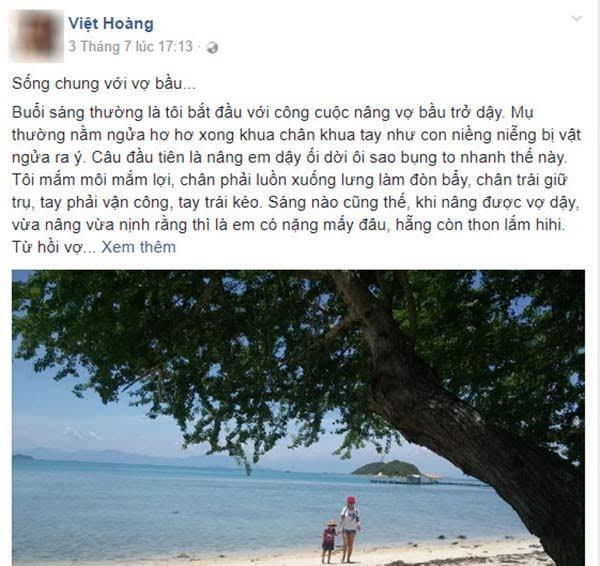 Chia sẻ của anh Việt Hoàng nhận được nhiều bình luận thích thú.