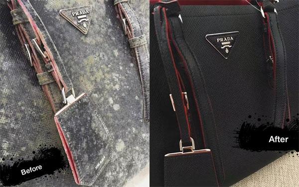 Chiếc túi xách đắt đỏ bị ố mốc được spa mới tinh như vừa mua từ cửa hàng về