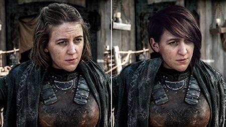 Nhân vật Asha Greyjoy đã được đổi tên thành Yara trong phiên bản truyền hình và cùng với việc đổi tên, tổ hóa trang đã đổi luôn kiểu tóc của nhân vật này