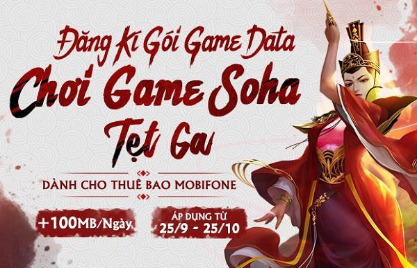 Đăng ký càng nhanh, thời gian miễn phí càng nhiều. Hãy soạn ngay SG1 gửi 999 (2.000 đ/ngày) để chơi Game Soha tẹt ga!