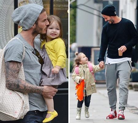 """David Beckham cũng là một ông bố """"chuẩn không cần chỉnh"""" của showbiz. Bận rộn nuôi dạy ba hoàng tử bé và một tiểu công chúa nhưng chàng David lúc nào cũng tỏ ra quan tâm, thấu đáo hết mực."""