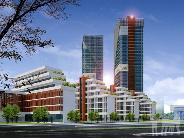 Góc phối cảnh thuộc Dự án xây mới trường Đại học Thành Tây, dự kiến khởi công từ tháng 12/2017.