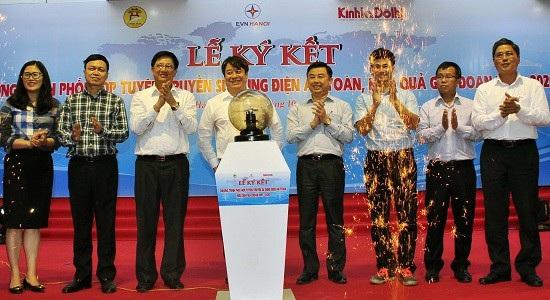 Lãnh đạo báo Kinh tế & Đô thị cùng EVN Hà Nội, Sở GD&ĐT Hà Nội khởi động chương trình truyền thông.