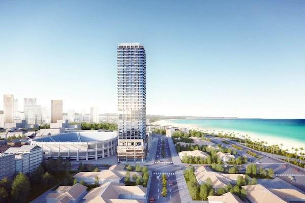 Thiết kế mở của Ocean Gate là thiết kế lần đầu được áp dụng khi xây dựng căn hộ khách sạn tại Nha Trang