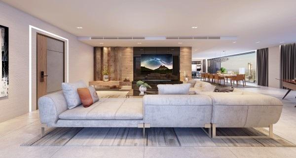 Mẫu TV cao cấp OLED Signature W7 của LG là lựa chọn của nhiều gia đình thượng lưu bởi thiết kế siêu mỏng độc đáo, dễ dàng dán lên tường như một bức tranh sống động
