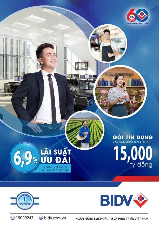 Gói vay hỗ trợ cá nhân và hộ gia đình sản xuất kinh doanh của BIDV đang được chú ý thời gian gần đây