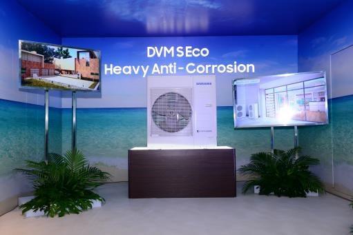 Dàn nóng điều hòa không khí DVM S Eco Anti-Corrosion được phủ lớp chống ăn mòn muối biển ở tất cả các thành phần bên ngoài và bên trong máy, giúp tăng tuổi thọ máy lên gấp nhiều lần.