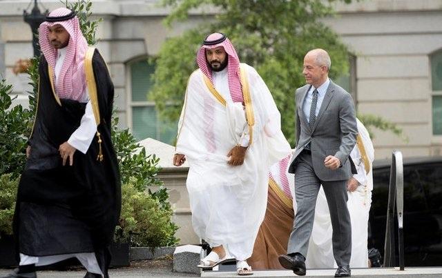Hoàng tử bin Salman trong chuyến thăm tới Mỹ.