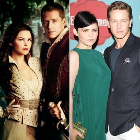 """Thủ vai Bạch Tuyết và Hoàng tử Charming trong bộ phim """"Once upon a time"""", Ginnifer Goodwin và Josh Dallas cũng thực sự """"cảm nắng"""" nhau ở ngoài đời. Và giống như trong câu chuyện cổ tích nổi tiếng, hai ngôi sao đã tổ chức một hôn lễ trong mơ và giờ đây đã có với nhau hai người con xinh xắn."""