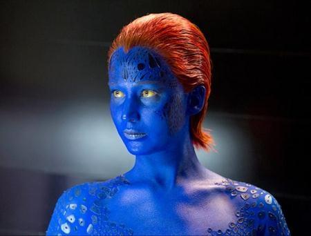 """Ngôi sao của loạt phim """"The hunger games"""", Jennifer Lawrence cũng đã có nhiều lần hóa thân thành dị nhân biến hình Mystique trong loạt phim """"X-men""""."""