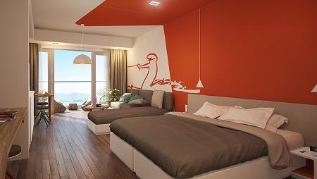 Mỗi căn condotel đều có ban công và được trang bị 100% nội thất cao cấp