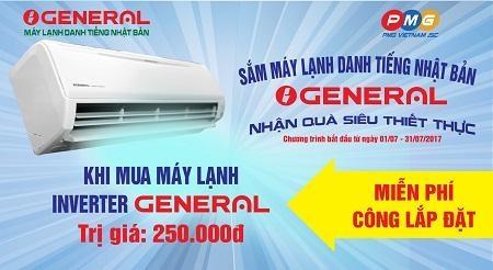 Sắm máy lạnh General – nhận quà siêu thiết thực