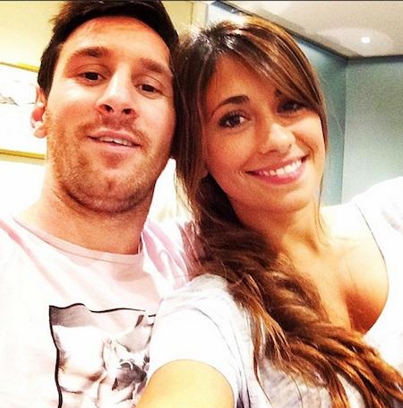 Messi và bạn gái đã gắn bó với nhau từ thời tấm bé