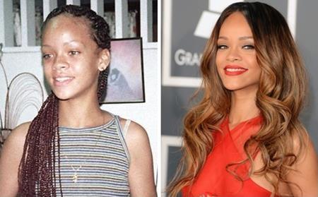 Còn đây chính là Rihanna của ngày xưa, thời vẫn còn chưa biết đến công nghệ trang điểm
