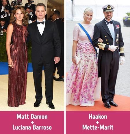 Matt Damon là một diễn viên nổi tiếng khi gặp và yêu cô gái phục vụ bàn Luciana Barroso nhưng bất chấp khoảng cách xã hội, cặp đôi đã làm đám cưới tới hai lần. Cuộc hôn nhân của Hoàng tử Na Uy Haakon và Công nương Mette-Marit cũng đã nhận được rất nhiều sự ngưỡng mộ dù khoảng cách địa vị vô cùng lớn giữa đôi bên.
