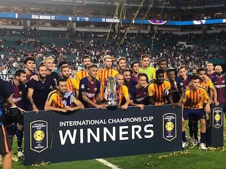 Barca đã vô địch giải giao hữu ICC 2017 một cách đầy thuyết phục