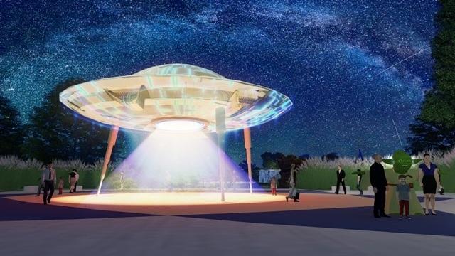 Ảnh phối cảnh tại Công viên Thiên văn học ngoài trời đầu tiên Đông Nam Á