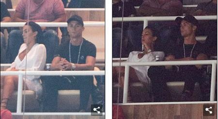 Diễn biến trên sân cỏ không thể lôi kéo được bạn gái C.Ronaldo