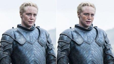 Brienne xứ Tarth đáng lẽ phải có hai bầu má tàn nhan, đôi môi dày và cặp mắt xanh ngây thơ