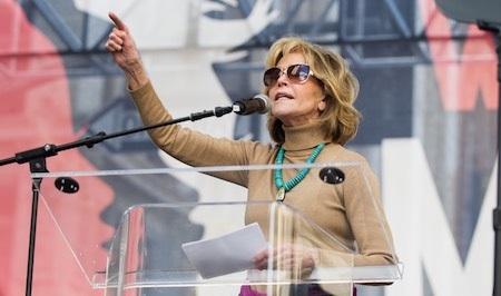 Jane Fonda rất tích cực đấu tranh cho nữ quyền